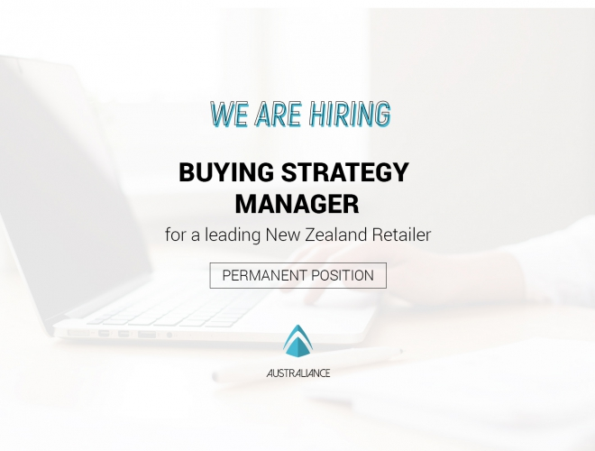 Buying Strategy Manager – for Leading retail group (based in Auckland)