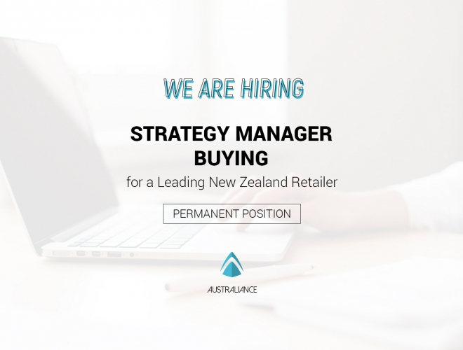 Strategy Manager – Buying, for Leading retail group (based in Auckland)