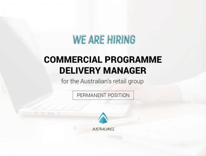 Hired — Offre d'emploi à Sydney : Commercial Programme Delivery Manager