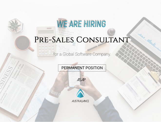 Job offer : Pre-Sales Consultant, based in Sydney