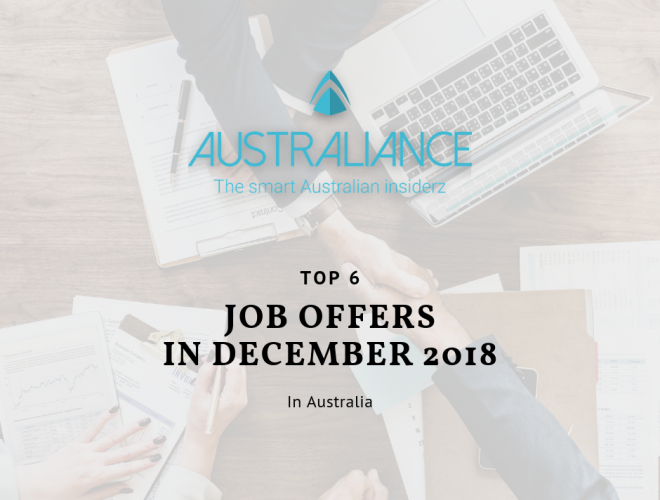 TOP 6 Job offers in Australia in December 2018