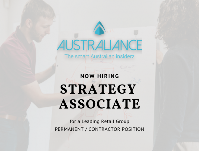 Job offer: Strategy Associate in a leading Australian Retail Group