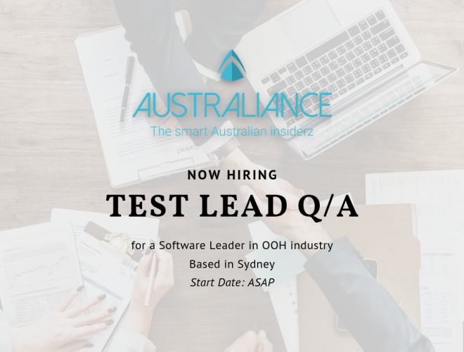 Job offer: Test lead Q/A
